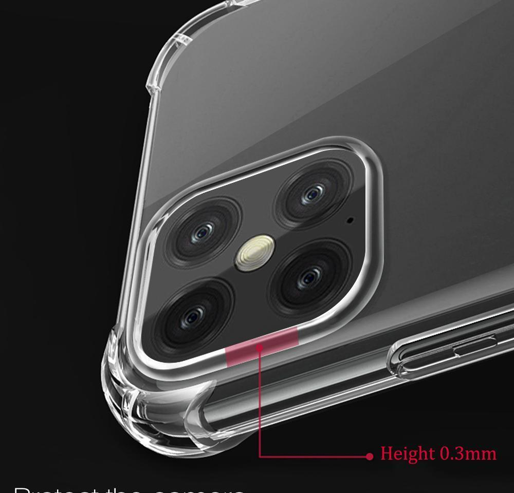 transparent clear case for phone 12promax clear shockproof case for phone 12 6.7 silicon cover transparent case for 11promax xr xsmax 7