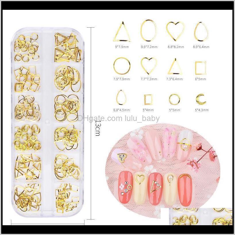 3d nail art decorations flat back crystal rhinestones hollow star moon shape nails studs rivet mini beads nail accessories