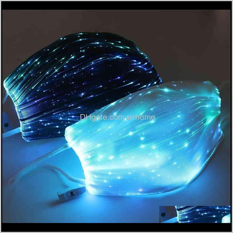 top halloween luminous mask with pm2.5 filter 7 colors glowing led face masks for christmas party festival masquerade rave mask