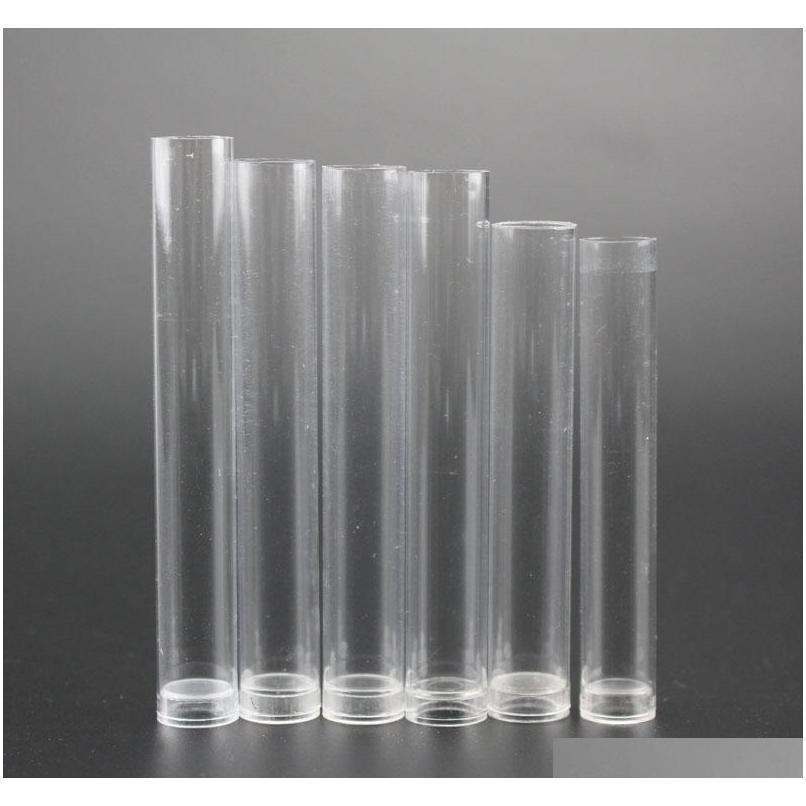 0.5ml 1ml clear plastic tube containers vaporizer glass cartridge pp tube rubber lids cartridge bud atomizer packaging private sticker