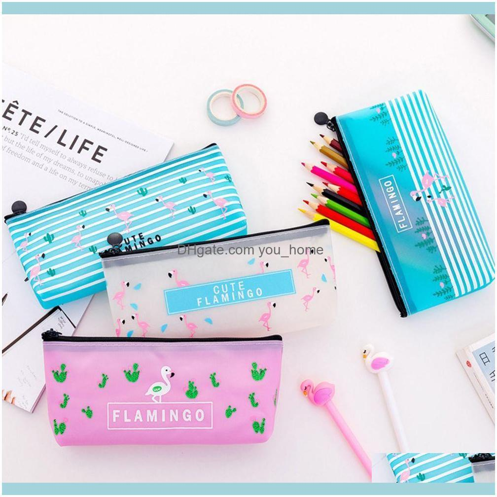 1Pcs Kawaii New Cute Animal Jelly Gel Pen Bag Small Fresh Portable Large Capacity Stationery Bag Student Pencil School