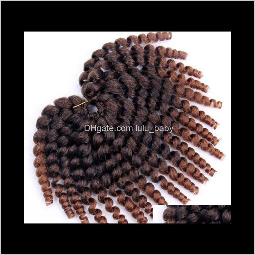 jamaican bounce twist hair crochet braids wand curl braiding hair 10inch 20strands/pack crochet synthetic hair