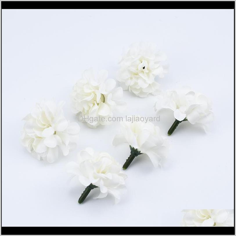 10 30 silk carnation head artificial flowers for home decoration wedding bridal accessories clearance diy gifts candy box wmtcjq