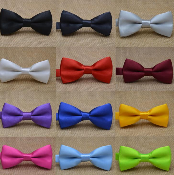 Classic Kid Bowtie Boys Grils Baby Children Bow Tie Fashion 25 Solid Color Mint Green Red Black White Green Pets