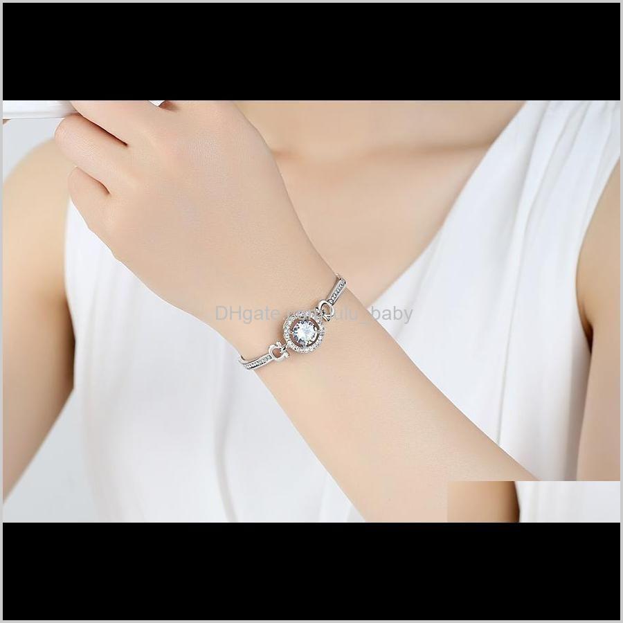 bracelets jewelry valentine `s day gift for girlfriend hotluxury designer women rhinestone diamonds bracelet chains faships2787
