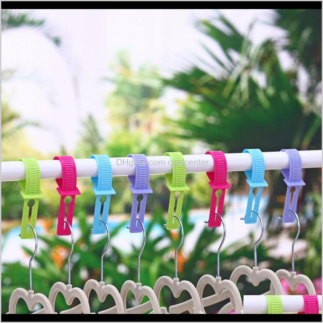 10pcs/set packed home outdoor windproof scratch hanger hook portable clothes non-slip fixed buckle camping hiking useful hook