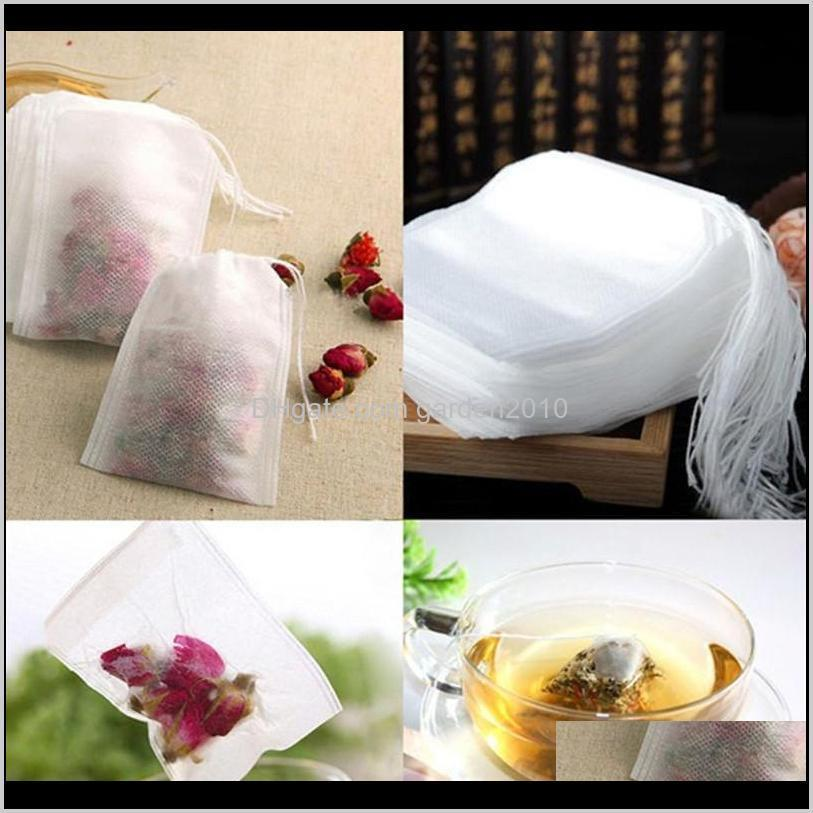 100pcs/pack teabags 5.5 x 7cm empty scented tea bags with string heal seal filter paper for herb loose tea eea2189