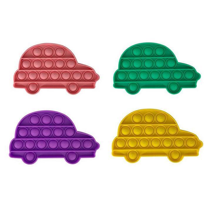 24h DHL Tiktok Rainbow Pulsar Presione Fidget Toy Sensory Push Bubble Bubble Fidget Sensory Autism Especial Necesidades Especiales Ansiedad Estrés Avistador para trabajadores de oficina Fluorescen Regalo