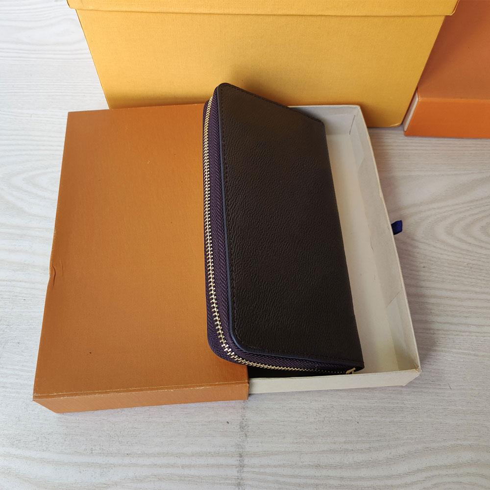 top quality Holders wallets Letter design most fashionable zipper wallet cards and coins famous mens leather purse card holder coin women purses Designers 60017