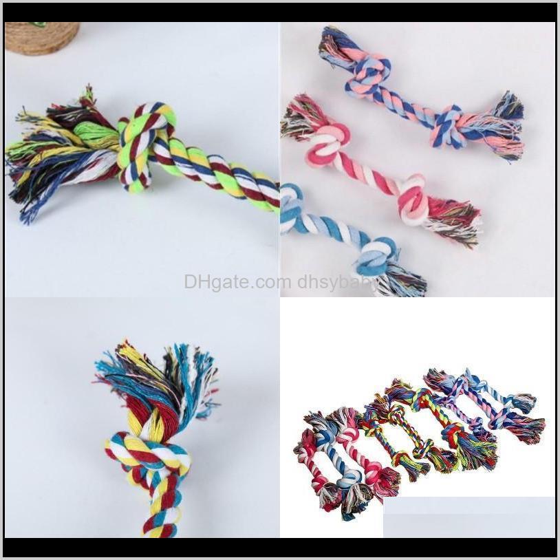 18cm molar teeth dog toys double knot knitting cloth rope pet supplies chews multi colour plaything home pets shop 0 43mq g2