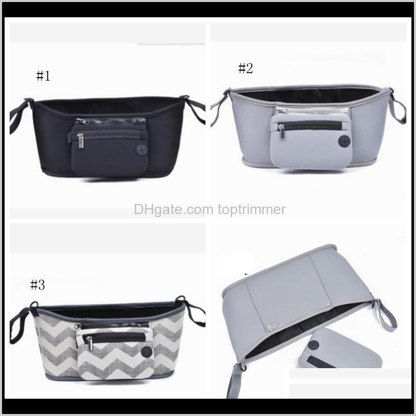 baby strollers bags infant carriage hanging bag insulation mommy bag waterproof nappy bags large capacity diaper organizer 3 colors