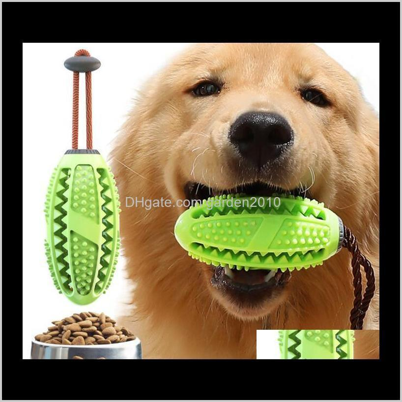 pet ball-food clean teeth barbed tpr rugby odontoprisis balls resistance to bite dog toys & chews dog pet supplies ha280
