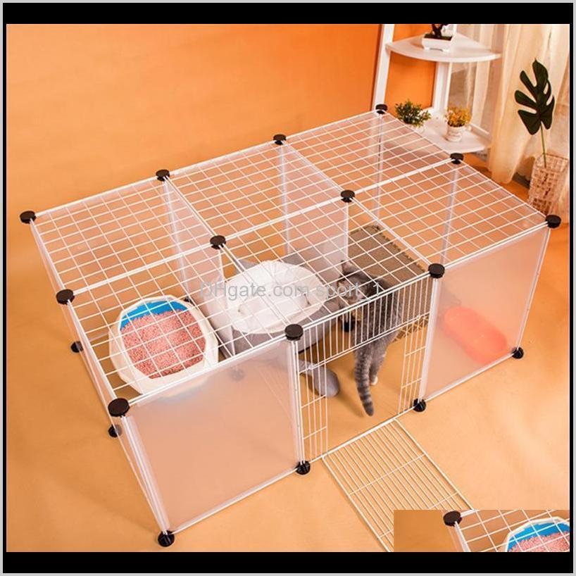 diy cats cage playpens gate transport iron fence small pets exercise training aviary for dogs puppies kennel enclosure
