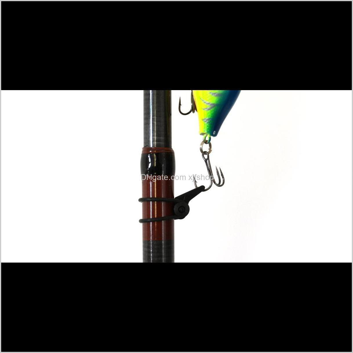 Multiple Color Plastic Fishing Rod Pole HooK Keeper Lure Spoon Bait Treble Holder Small Fishing Accessories IS0301