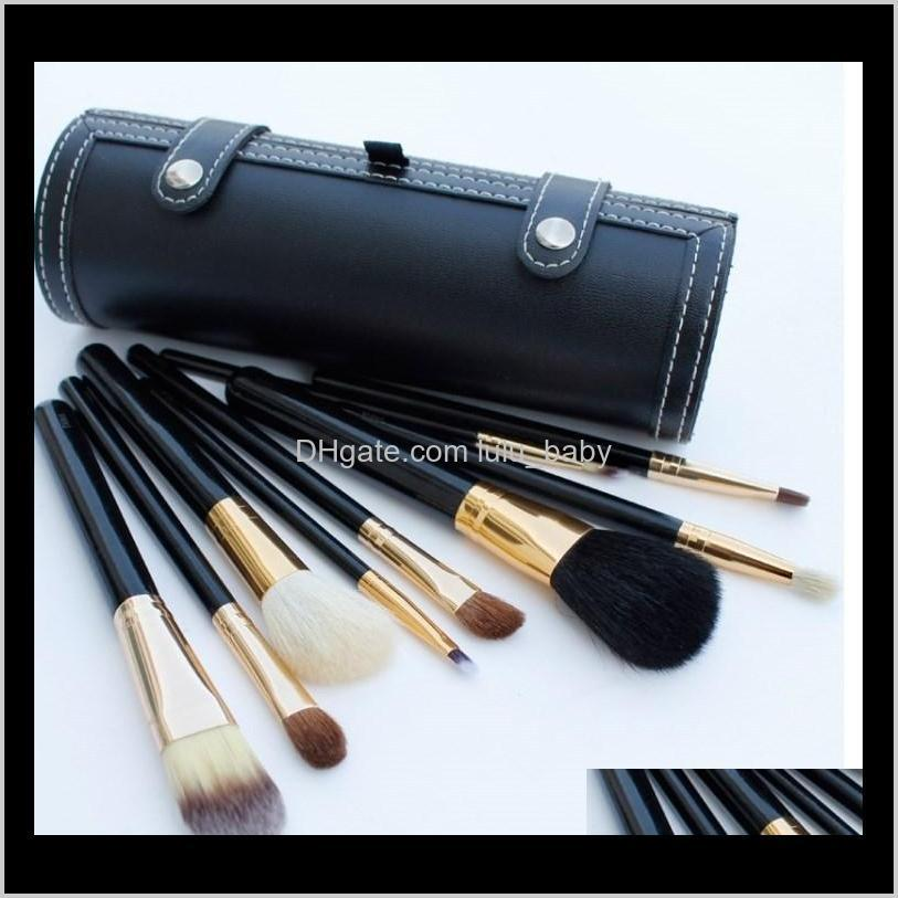 makeup brushes set kit 9 pcs travel beauty professional wood handle foundation lips cosmetics makeup brush with holder cup case