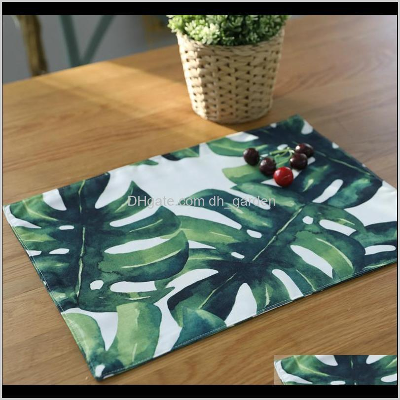 placemats dinner tables cotton plant printed table napkin pads weddings home wedding party decoration napkins paper guardanapo