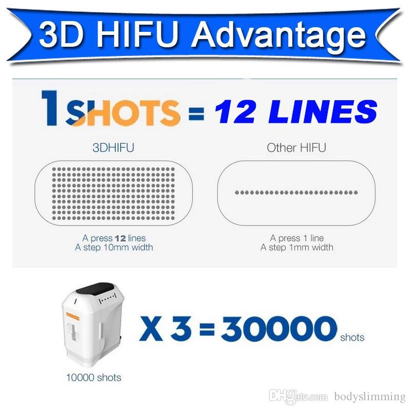 2 في 1 3d hifu liposonix آلة التخسيس الوجه رفع التجاعيد إزالة الدهون معدات التجميل الدهون