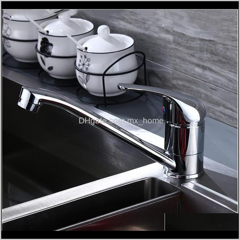 sianco chrome brass rotatable kitchen faucet single hole mixer tap deck mounted sink faucet sianc jllnyr