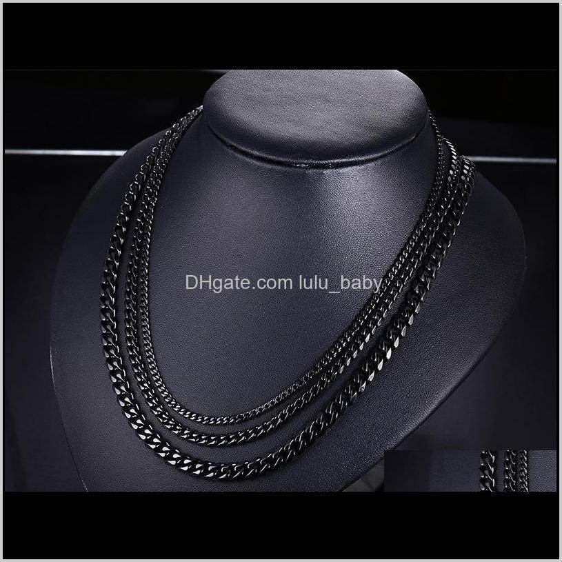 fashion jewel stainless steel necklace men necklaces women necklace 18k gold titanium chains necklace man luxury chains necklaces 01