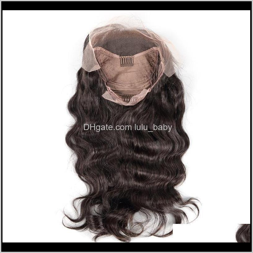 z&f full lace wig brown color 100% human hair full french lace wigs 14/16/18/20/22/24 inch loose wave curly hand made ship