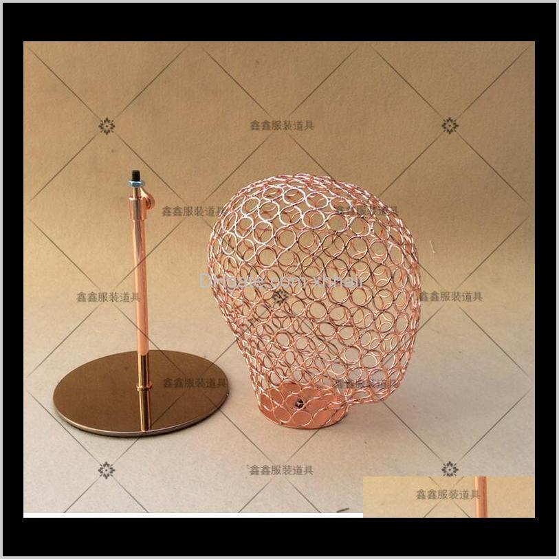 fashionable hat head holder head mannequin for hat display wire hollow head model female male unisex
