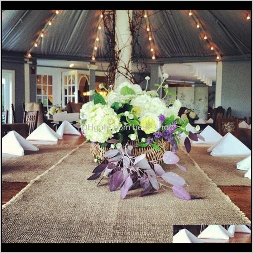 linen roll tablecloth hessian burlap true colors 30cm*10m chair back wedding celebration decorate table flag home kitchen 32tn m2