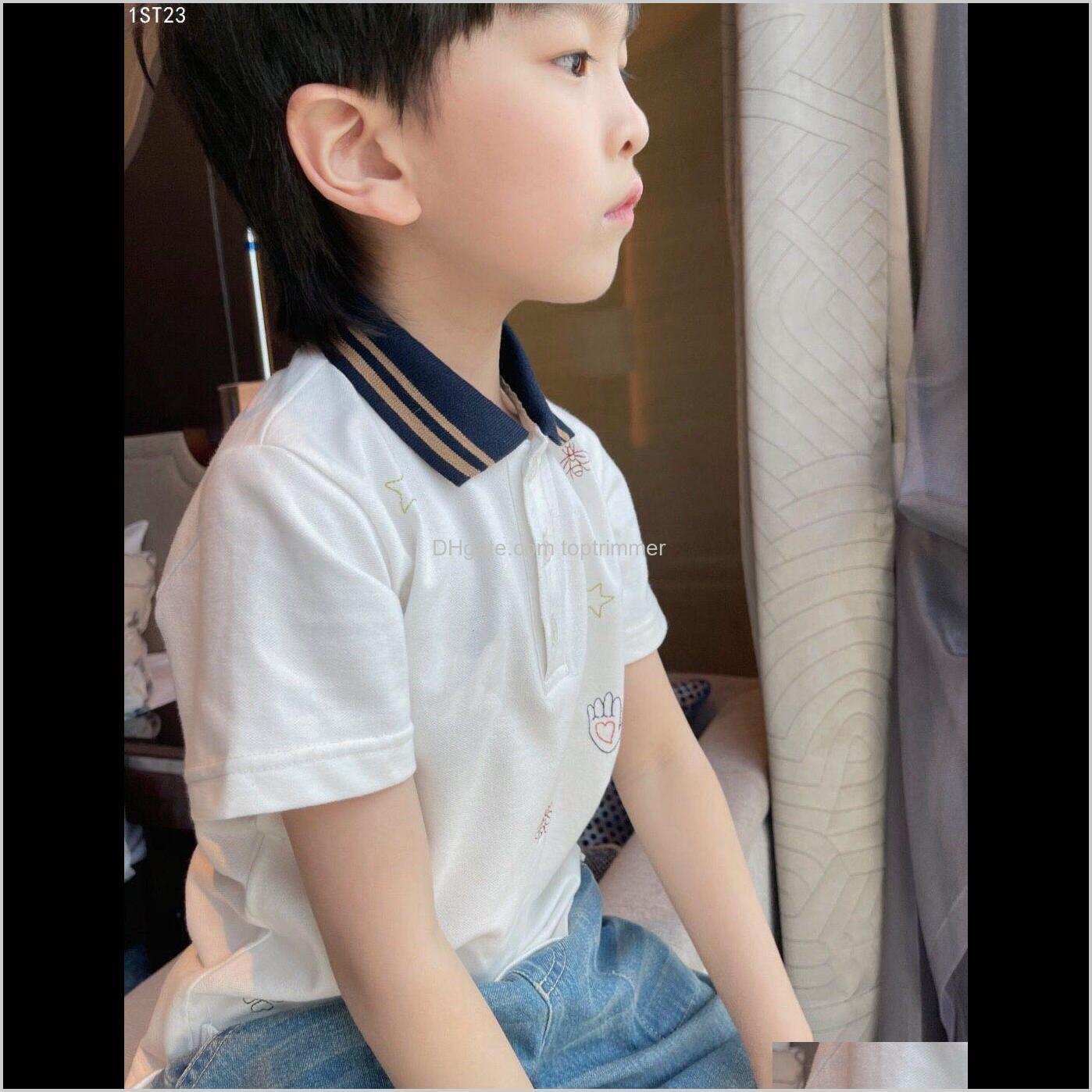 shipping toddler kids polo shirt summer short sleeve tops cotton turn down collar pure color sport polos boys girls shirts