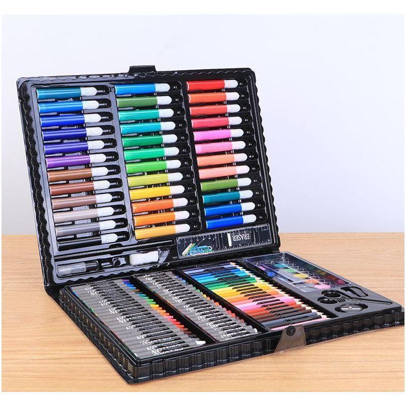 kids painting pens children`s brush drawing pens 150 sets of painting watercolor pen art brush set gift box stationery school writing