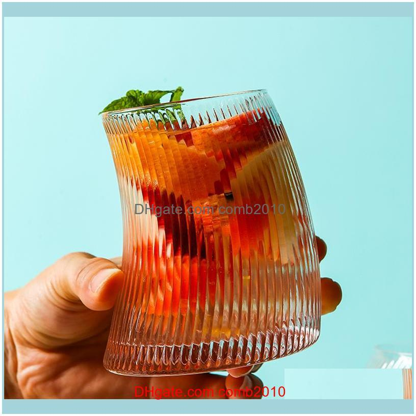 New Creative Glass Cold Water Bottle Jug Jar Kettle Transparent Large Capacity Wine fruit juice Drink Milk Beer Pot Mug Cup Set 201126