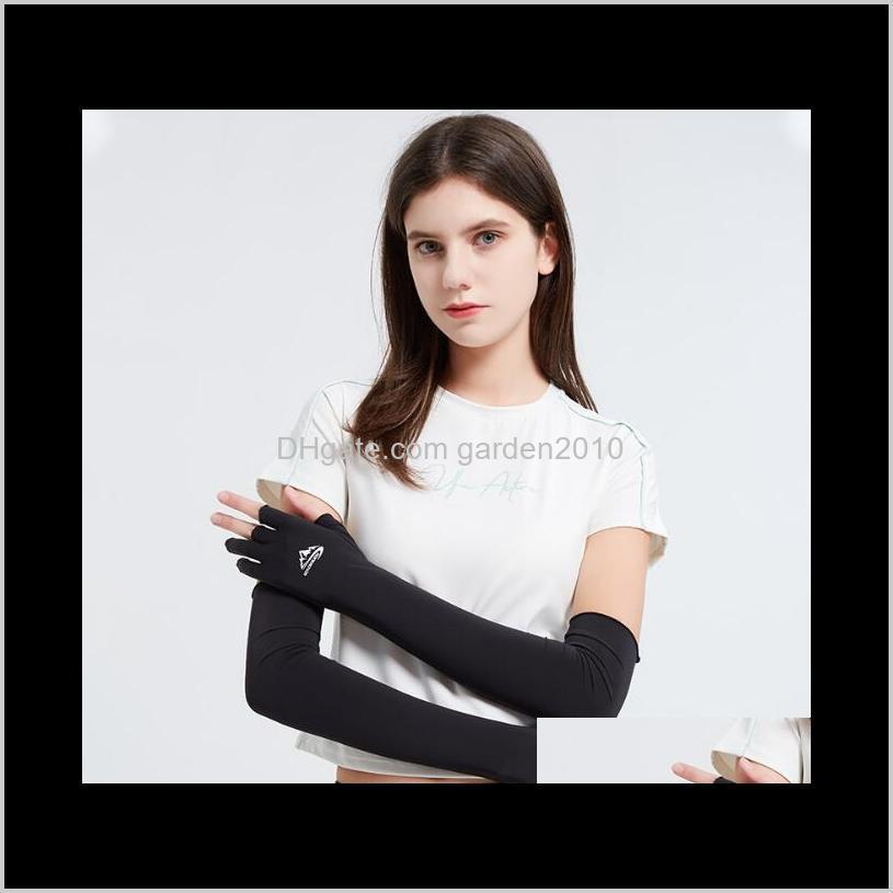 ice silk non-slip breathable sleeve outdoor cycling fishing arm guard leakage gloves anti uv protective sleeves home textiles ha1126