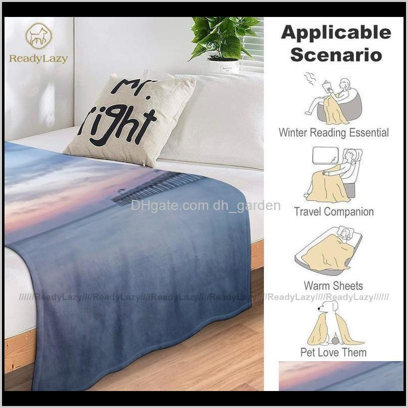 sun moon blanket summer super soft decorative fleece bedspread blankets