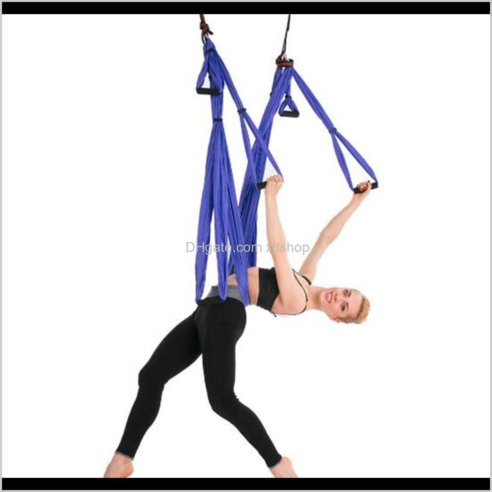 wholesale anti-gravity aerial yoga hammock set multifunction yoga belt flying yoga inversion tool for pilates body shaping
