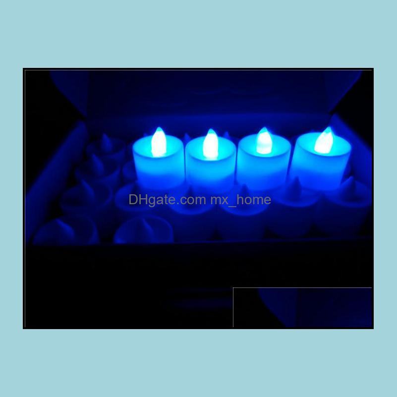 3.5*4.5 cm LED Tealight Tea Candles Flameless Light Battery Operated Wedding Birthday Party Christmas Decoration J082002# DHL