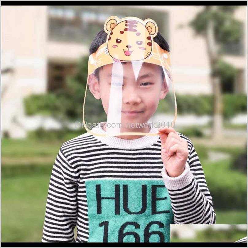 2020 pet kids cartoon face shield with glasses safety chidren protective mask full face anti-fog isolation mask splash-proof visor