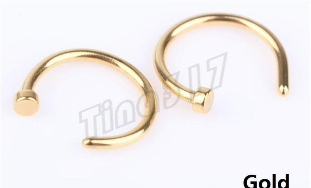 nose rings body piercing fashion jewelry stainless steel nose hoop ring earring studs fake nose rings non piercing rings party party