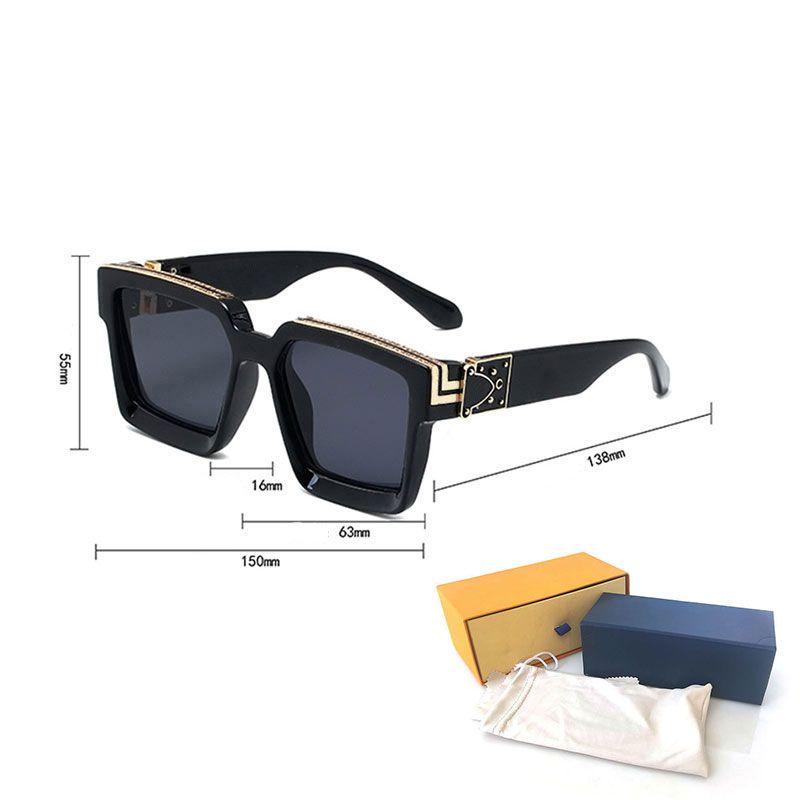 Gafas de sol de lujo de alta calidad Gafas de sol Moda para hombre Gafas de sol UV Protección de UV Hombres diseñador Gafas de gama de gafas de metal Gafas de mujer con cajas de casos originales