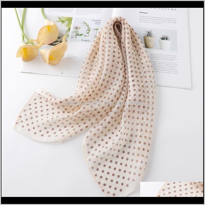 fashion lady hair scarf silk square bag scarves chiffon neck bandana shawl head wraps female print designer foulard accessories