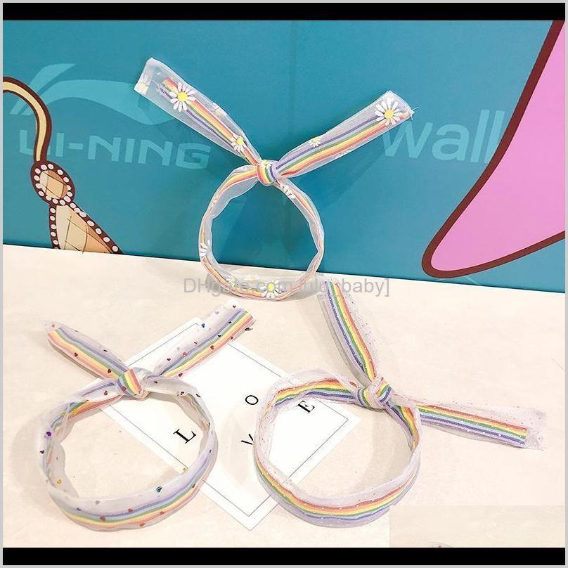 10pcs/lot washing face hair band simple rainbow color winding headband hair band girl pressing-hair headband hair accessories
