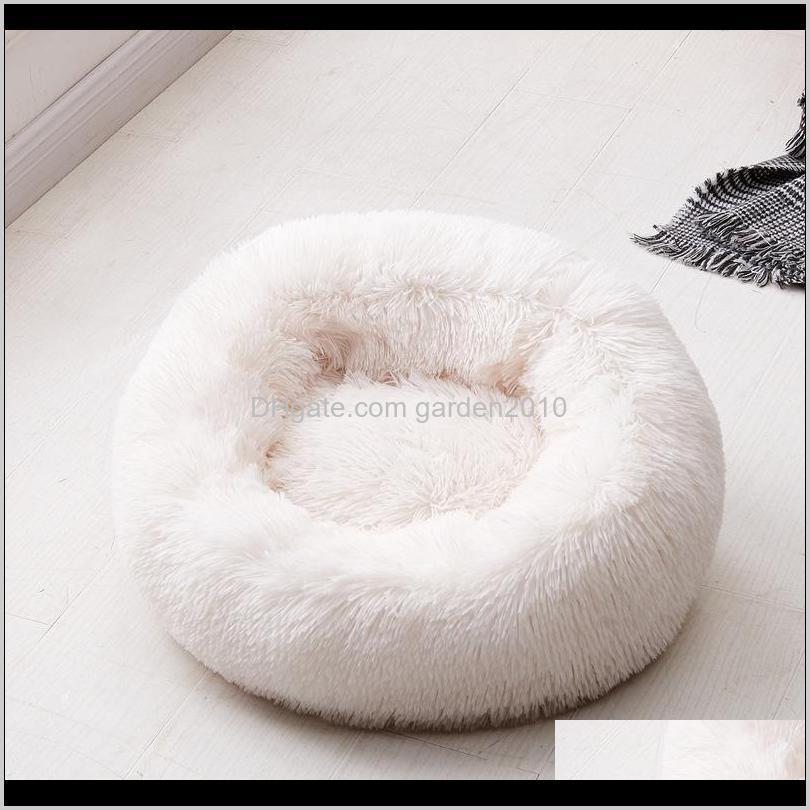 dog bed long plush super soft pet kennel round sleeping bag lounger cat house winter warm sofa basket for medium large dog 201119