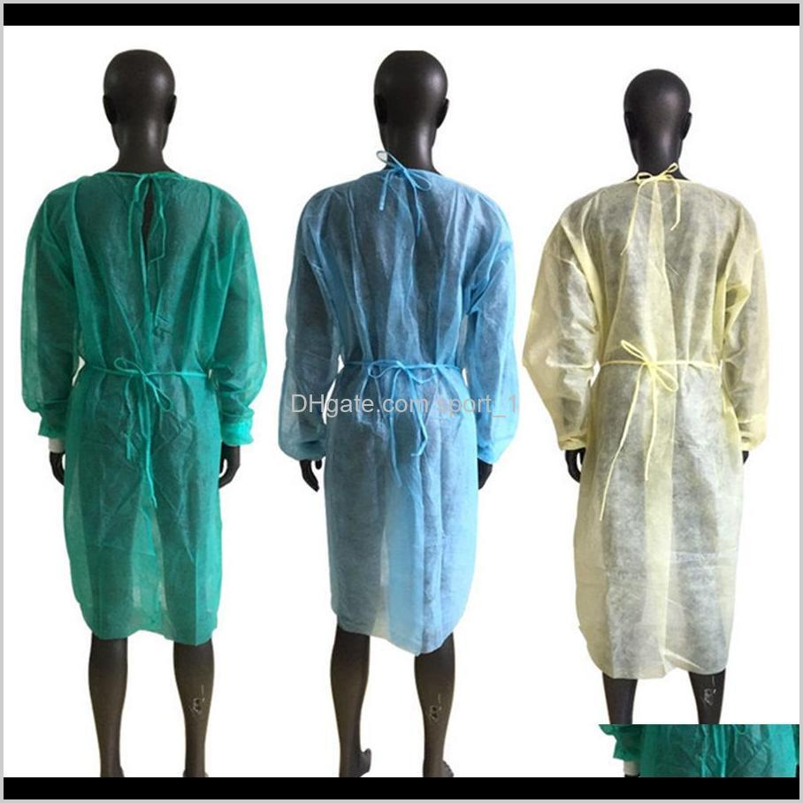 non woven protection gowns disposable pp protective isolation clothing anti dust coveral working clothes aprons ooa8182
