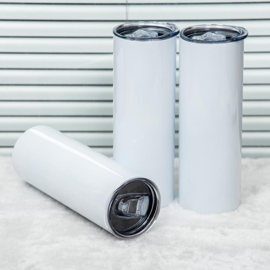 التسامي فارغة بهلوان الفولاذ المقاوم للصدأ نظارات الفولاذ الفولاذ زجاجة المياه كوب سيارة مع غطاء القش القهوة القدح النبيذ النبيذ