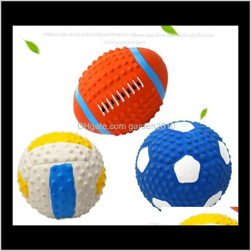 latex vocalize odontoprisis toys natural emulsion rugby football clean teeth pet toys & chews dog pet supplies ha302