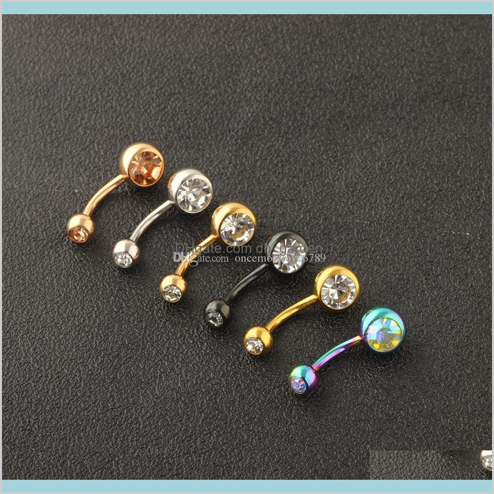 stainless steel 14g belly piercing nombril screw navel button rings tragus helix body jewelry for women men 120pcs