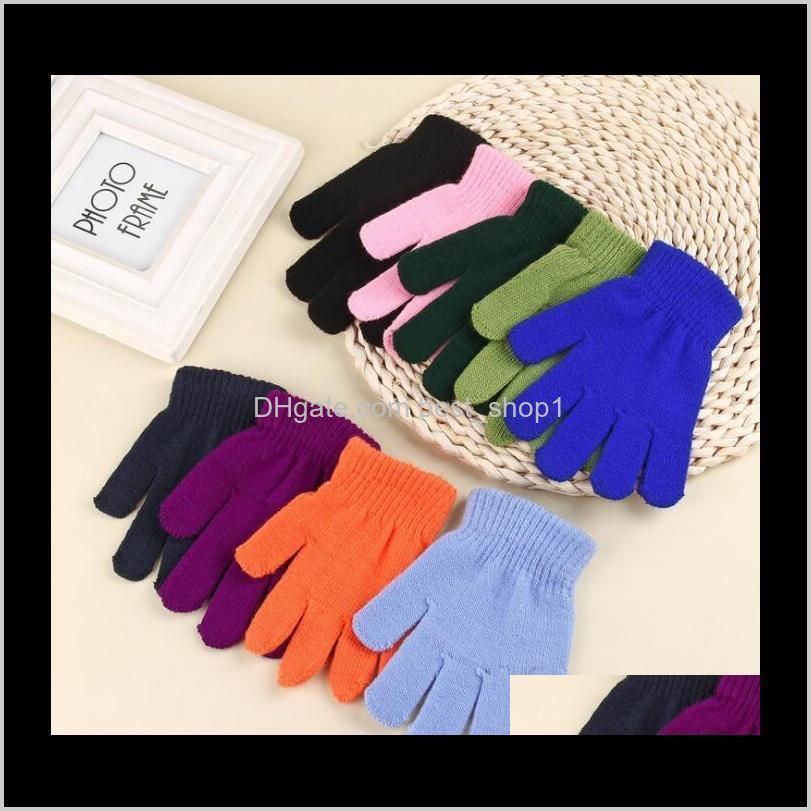 fashion children kids magic knit gloves girl boys stretching knitting winter warm gloves full finger outdoor sport ski mittens