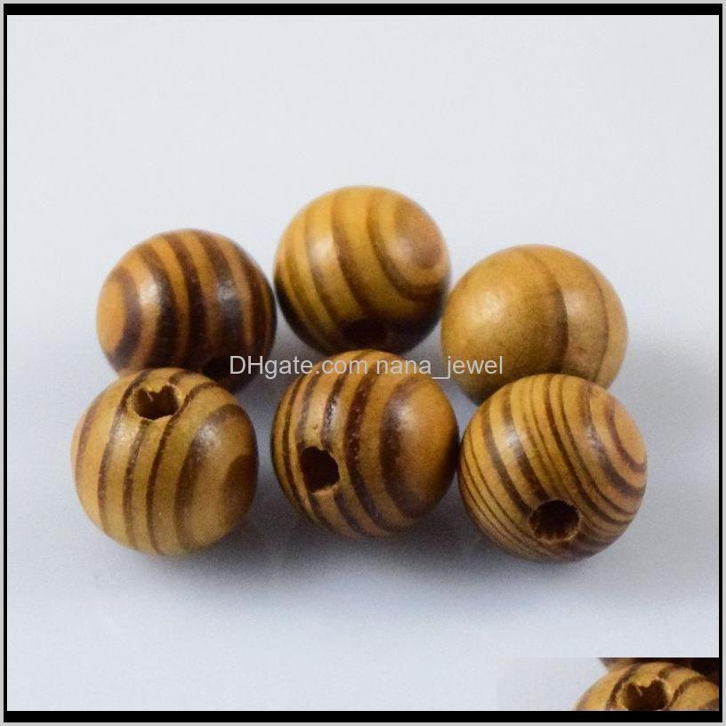 natural woodgrain round loose spacer bead jewelry fit diy bracelet 6,8,10,12,14 ,16mm