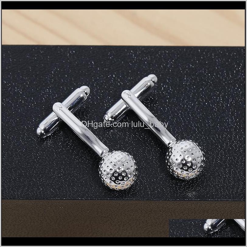 wedding creat gor mens golf ball round glass hand made cufflinks men high-grade copper