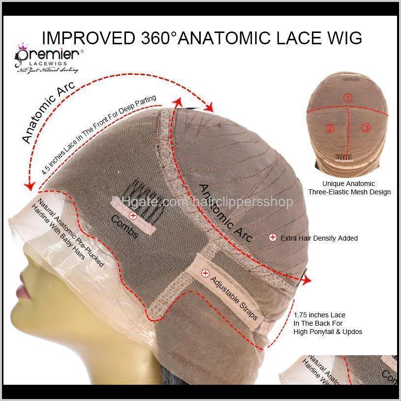 premier full lace human hair wig brazilian remy hair 12-24