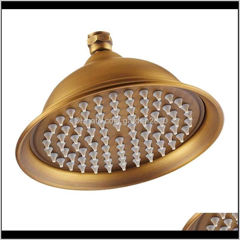 8 inch round gold ,rose gold,chrome, antique,black bathroom solid brass copper rain shower head1
