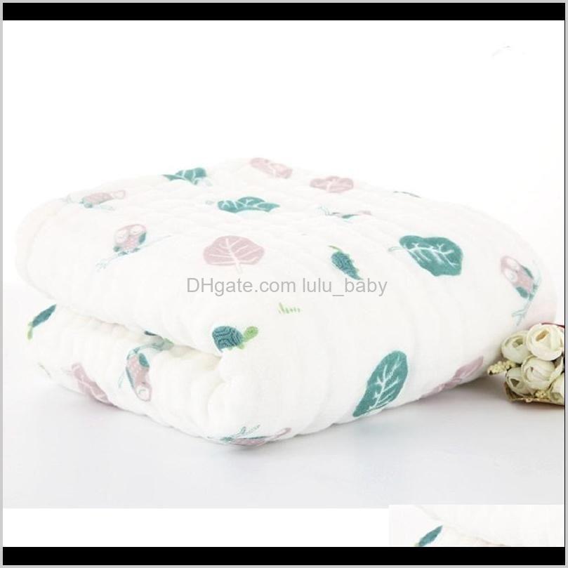 muslin swaddle baby blankets swaddling 100% cotton swaddle wrap for newborn babies 6 layer bath towel blanket baby bedding lj200819