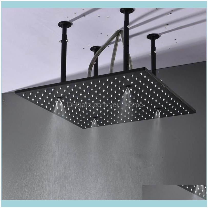 Shower Panel Mist Shower Head Black LED 20